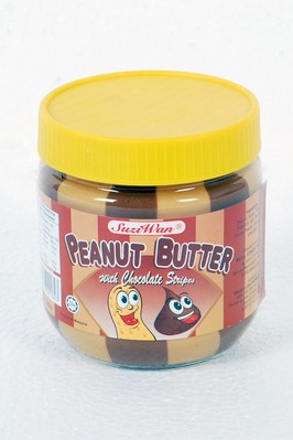 Peanut Butter with Chocolate Stripes - 340g